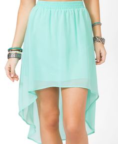 High-Low Chiffon Skirt | FOREVER21 - 2030187769 12