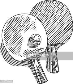 Line Drawing Of Table Tennis Elements Are Tennis
