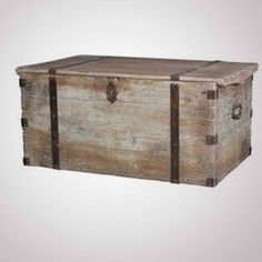 Been wanting one of these. A sailor's trunk works as a coffee table and provides storage.