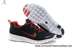 size 40 73aa2 781ef Fashion Mens 555306-612 Nike Free Powerlines II Black Red Casual shoes  Store Free Running