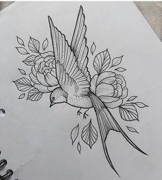 Swallow & Flowers Tattoo by Medusa Lou Tattoo Artist – medusalouxoutloo…. Swallow & Flowers Tattoo by Medusa Lou Tattoo Artist – medusalouxoutloo…. Sleeve Tattoos Swallow & Flowers Tattoo by. Future Tattoos, New Tattoos, Body Art Tattoos, Sleeve Tattoos, Unique Tattoos, Temporary Tattoos, Pencil Art Drawings, Bird Drawings, Flower Drawings