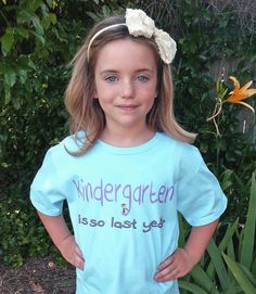 Kids T Shirt - Kindergarten is so last year - Kindergarten Graduation