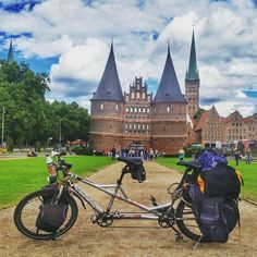 #Lübeck sure is pretty!  #EnjoyGermanNature #TandemChallenge #GermanyChallenge
