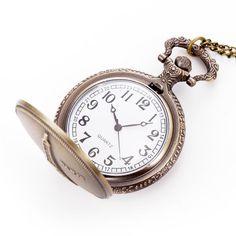 Sale 28% (4.19$) - Fashion Vintage Pocket Watch Paris Towe Pattern Antique Chain Analog Necklace Quartz Watch