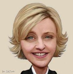 Ellen Degeneres    Artist: Jan LeComte   website: http://jantheempress.wordpress.com