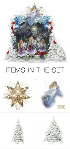 """""""Christmas Angels"""" by judymjohnson ❤ liked on Polyvore featuring art"""
