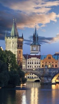 Prague - Prague, City of a Hundred Spires, a UNESCO monument and one of the most beautiful cities in the world. Places Around The World, Oh The Places You'll Go, Places To Travel, Around The Worlds, Budapest, Most Beautiful Cities, Wonderful Places, Prague Czech Republic, Heart Of Europe