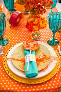 lollipop napkin How Sweet It Is: Decorating Your event With Candy