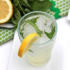 Basil lemonade - so refreshing!