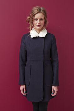Manteau DELINDA - 100% laine #mode #bio