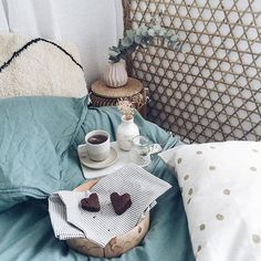 Tea with love! Lazy Day, Decoration, Kinfolk, Throw Pillows, Scandinavian, Sunday, Bedroom, Blue, Clothing