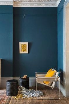 "Farrow and Ball ""Hague Blue"" via   My favourite thing to do with a spare five or ten minutes is to busy myself on Pinterest. For those of..."