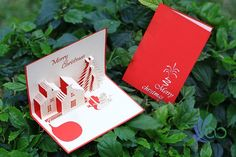 Christmas House Pop-up Cards