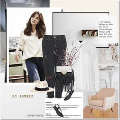 How To Wear White Shirt and Ripped Jeans Outfit Idea 2017 - Fashion Trends Ready To Wear For Plus Size, Curvy Women Over 20, 30, 40, 50