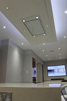 Flush ceiling extractor fan for the home pinterest extractor built in extractor over the kitchen island becomes part of ceiling complete with attractive lighting mozeypictures Images