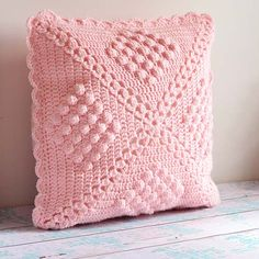 The crochet cushion is gorgeous and the popcorn design adds more dimension. For full post click here. By: Down Grapevine Lane