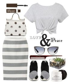 """""""Love & Peace"""" by clotheshawg ❤ liked on Polyvore featuring Uniqlo, Tom Ford, WallPops, philosophy, Mason Pearson, Dolce&Gabbana, Jayson Home and Rimmel"""