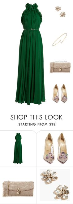 """""""Primetime Emmy Awards"""" by stylebyshannonk ❤ liked on Polyvore featuring Elie Saab, Christian Louboutin, Dolce&Gabbana, J.Crew and Elsa Peretti"""