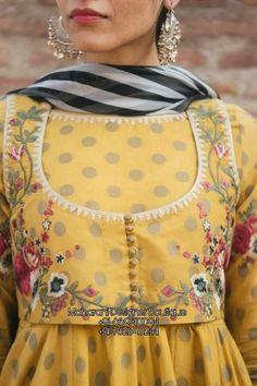 Kurti Neck Designs, Dress Neck Designs, Salwar Designs, Bridal Blouse Designs, Fancy Dress Design, Stylish Dress Designs, Frock Design, Pakistani Fashion Casual, Pakistani Dresses Casual