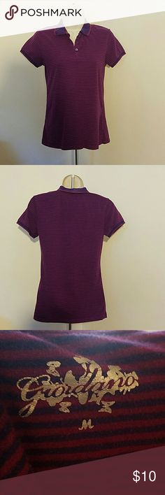 Blue and purple striped shirt by Giordano Size medium in juniors. No tears, stains or snags. Message me with any questions Giordano  Tops Tees - Short Sleeve