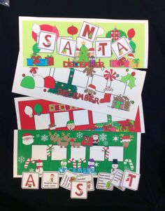 $ December Game for open-ended Christmas fun! 3 games provide a fresh activity each month. Spell Hearts, Winter or Santa to win. Includes themed letter mats, vocabulary lists and language development questions. #speechsprouts