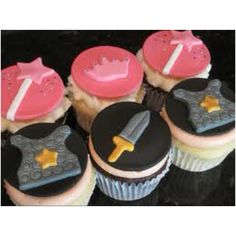 Princess & knights cupcakes - I think the knight cupcakes would be awesome for teaching the armor of God