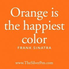 Love me some orange!