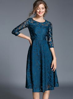 Sexy See-Through Lace Skater Dress from DressSure.com #dresssure #fashion #dresses #HighQuality