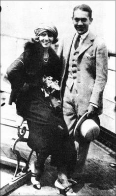 "miss-flapper: "" Olive Thomas and Jack Pickford leaving for Europe, August 1920 "" This is one of the last known photographs of actress Olive Thomas with husband and fellow actor Jack Pickford on their way to their second honeymoon in Europe. On the..."
