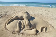 Building Castles in The Air is Easy But on The Sand Not - 16 Sand Sculptures That Really Prove So - https://memeyourfriends.com/amazing-sand-sculpture-art-design-beach-16-outstanding-art-work/