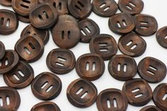 10 Brown Natural Sew Through Wooden Button by boysenberryaccessory