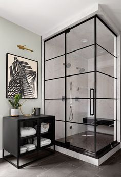 Gentleman's Quarters: A Southern Bachelor Pad — Gina Sims Designs Industrial Bathroom Design, Bathroom Interior Design, Modern Industrial, Bachelor Pad Bedroom, Bachelor Pad Decor, Bachelor Pads, Gentlemans Quarters, Design Light, Interior Design Minimalist