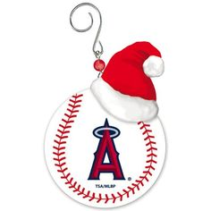 Los Angeles Angels of Anaheim Baseball Christmas Ornament *** You can find more details by visiting the image link.