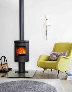 #Morso woodburner - warmth with accent of jonquille #somewhatgrey