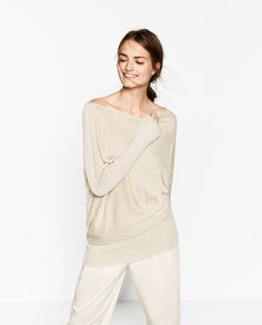 ZARA - WOMAN - ASYMMETRIC SWEATER