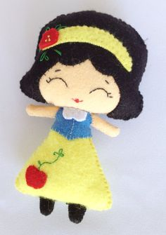 Snow White Felt Doll by LaLaLaDesigns on Etsy, $25.00