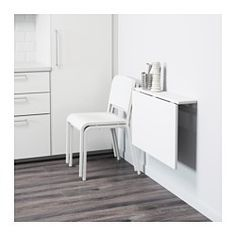 IKEA - NORBERG, Wall-mounted drop-leaf table, Becomes a practical shelf for small things when folded down.You save space when the table is not being used as it can be folded away.Table top covered with melamine, which gives a hard-wearing, easy clean finish.