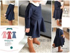 """Ebook Mädchenkleid """"IVORY"""" by EvLi's-Needle Diy And Crafts, Harem Pants, Shirts, Sewing, Fitness, Kids, Fashion, Styling Tips, Long Sleeve"""