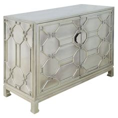 "Brownstone Treviso German Silver Chest 45""W x 19""D x 35""H $2800"