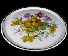 KPM Berlin Porzellan Platte / Tortenplatte Blumendekor Cake Plate 32,5cm XXX
