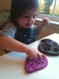 playdough play toddler activity