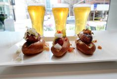 Get a triple-beer-and-sausage flight