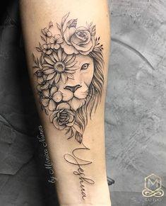 Lion tattoo Minhas Tatuagens The post Lion tattoo Minhas Tatuagens appeared first on Best Tattoos. Hand Tattoos, Leo Lion Tattoos, Forearm Tattoos, Flower Tattoos, Body Art Tattoos, Tatoos, Side Thigh Tattoos, Shoulder Tattoos For Women, Sleeve Tattoos For Women