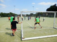 Football on the astroturf pitch