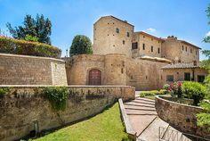 Restoration and preservation operations of the Castello di Castelfalfi