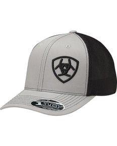 Ariat Mens Grey Contrasting Shield Baseball Cap  193c7829721c