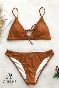 5e955390aa The classic triangle top features front ties for a modern twist. Product  Code  Lace trimming Triangle bikini top Padded cups Regular wash Fabric  ...