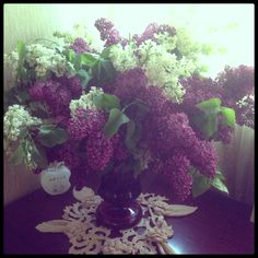 My favorite - Lilacs (which flowers can compare to Lilacs, just Roses)