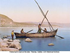 A view into the past: fishermen on the Sea of Galilee