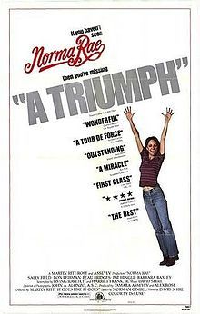 Norma Rae    Theatrical release poster //   Directed byMartin Ritt  Produced byTamara Asseyev  Alex Rose  Written byHarriet Frank, Jr.  Irving Ravetch  StarringSally Field  Beau Bridges  Ron Leibman  Music byDavid Shire  CinematographyJohn J. Alonzo  Editing bySidney Levin  Distributed by20th Century Fox  Release date(s)  March 2, 1979